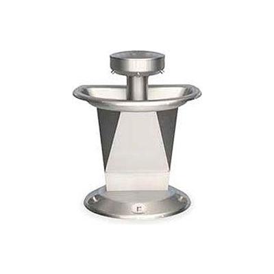 Bradley Corp® Wash Fountain, Semi-Circular, Raising Vent, Series SN2003, 3 Person
