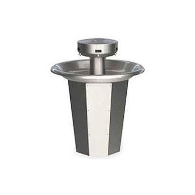 Bradley Corp® Wash Fountain, 110/24 VAC, Circular, Series SN2005, 5 Person