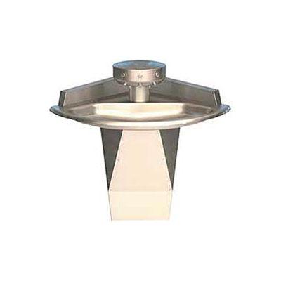 Bradley Corp® Wash Fountain, Off-line Vent, Corner, Series SN2013, 3 Person