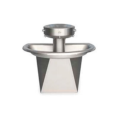 Bradley Corp® Wash Fountain, Semi-Circular, Off-line Vent, Series SN202, 3 Person