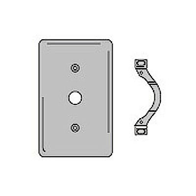 Bryant SS12 Telephone and Coax Plate, 1-Gang, Standard, Satin Stainless, Strap