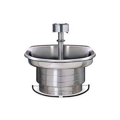 Bradley Corp® Wash Fountain, 36 In Wide, Semi Circular, Series WF2703, 3 Person