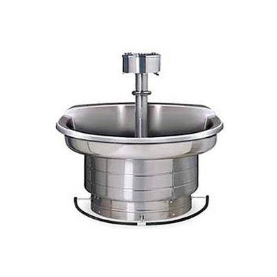 Bradley Corp® Wash Fountain, 54 In Wide, Semi Circular, Series WF2704, 4 Person Sink