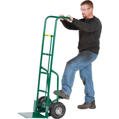"""Little Giant® 60"""" Tall Hand Truck with Foot Kick TF-370-10FF - 10"""" Flat Free Wheels"""
