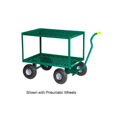 "Little Giant® 2 Shelf Wagon Truck 2LDWP-2448-10-G - 24 x 48 - 10"" Rubber Wheels"