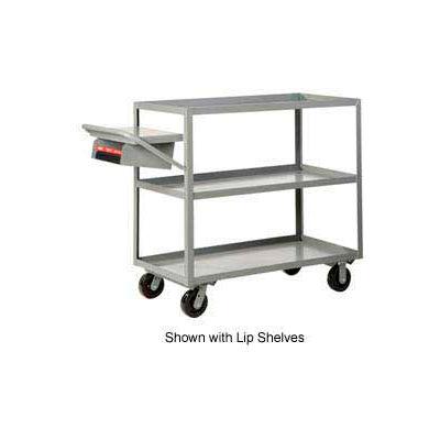 Little Giant® Multi-Shelf Truck 3M-3048-6PH-WSP 3 Flush Shelves 30x48 Writing Shelf Pocket