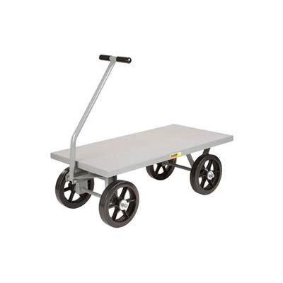 Little Giant® Wagon Truck CH-3672-12MRFSD - Flush Deck - 36 x 72 - Mold-on Rubber Wheels