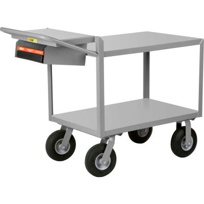 Little Giant® Instrument Cart w/Writing Shelf, Flush Shelves, 24 x 36