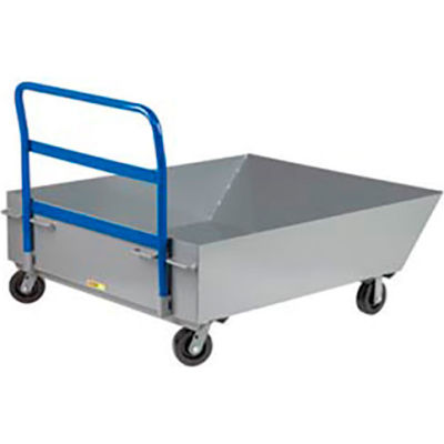 "Little Giant® Low Profile Front Scoop Hopper Truck HT-4857-6PH, 12"" Deep"