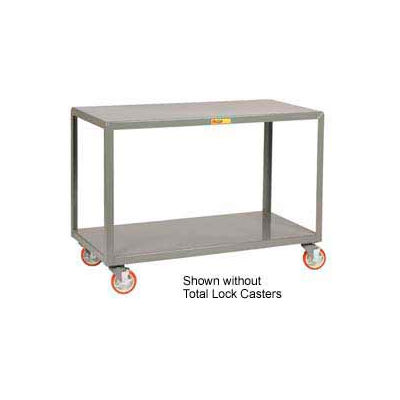 Little Giant® Mobile Table IP-2448-2TL, 2 Shelf, 24 x 48, Locking Casters