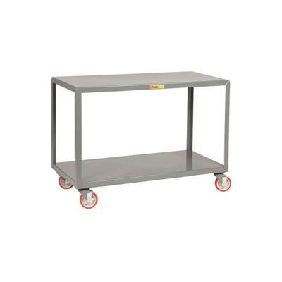 "Little Giant® Mobile Table, 2 Shelves, 24""Wx60""L, 1000 Lbs. Cap."