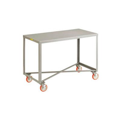 "Little Giant® Mobile Table, 1 Shelf, 30""Wx60""L, 1000 Lbs. Cap."