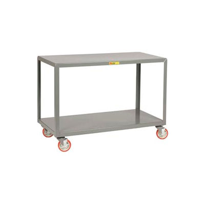 "Little Giant® Mobile Table, 2 Shelves, 30""Wx72""L, 1000 Lbs. Cap."