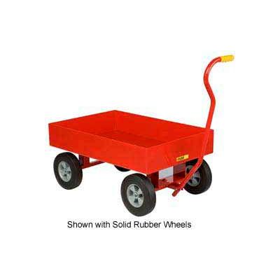 "Little Giant® Nursery Wagon Truck LDW-2436-X6-10P - Steel Deck - 6"" Sides - 10 x 3.5 Pneumatic"