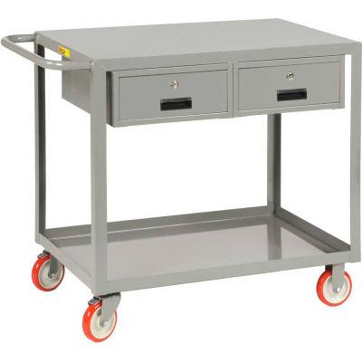 "Little Giant® Service Cart w/Flush Top, 2 Drawers, 24""Wx36""L"