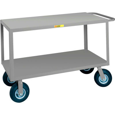 Little Giant® Flush Handle Instrument Cart, Flush Shelves, 24 x 48