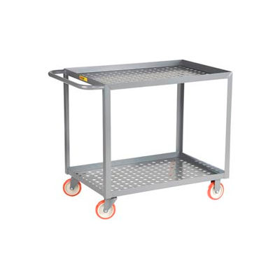 """Little Giant® Perforated Deck Service Cart, 2 Tray Shelves, 24""""Wx36""""L, 1200 Lbs. Cap."""