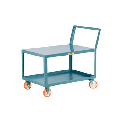 Little Giant® Low Deck Shelf Truck LK-3060-5PYBK, Flush Top, Sloped Handle, 30 x 60