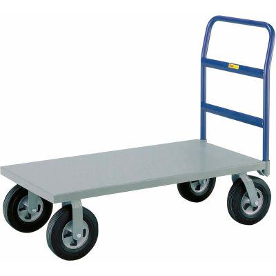 """Little Giant® Heavy Duty Platform Truck NBB-3672-10SR - 36 x 72 - 10"""" Rubber Wheels - 1500 Lb."""
