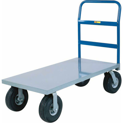 Little Giant® Heavy Duty Platform Truck NBB-3672-9P - 36 x 72 - Pneumatic Wheels - 1200 Lb.