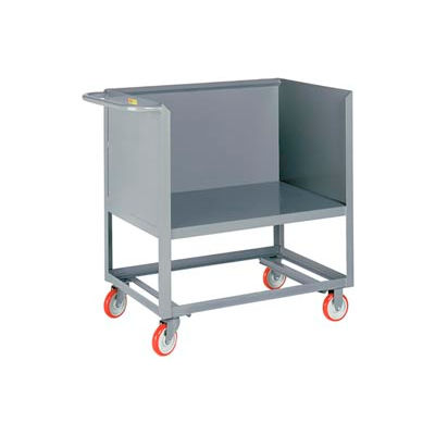 Little Giant® Raised Platform Box Truck RP3S-2448-6PY, 3 Solid Sides 24x48 2000 Capacity