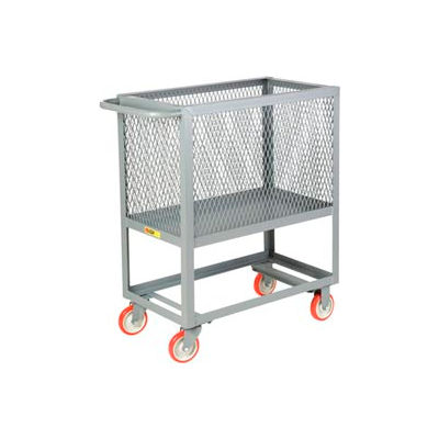 Little Giant® Raised Platform Box Truck RP4X-1832-5PY, 4 Expanded Metal Sides 18x32 1200
