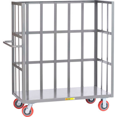 Little Giant® 3-Sided Bulk Truck S1-2448-6PY Slat-Type Sides 24x48 Polyurethane Wheels