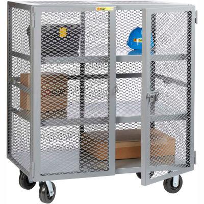 Little Giant® Mobile Storage Locker SC2-3660-6PH 2 Center Shelves 36x60 Phenolic Wheels