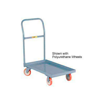 Little Giant® Steel Deck Platform Truck T-500-LU - Lip Edge - 18 x 32 - Mold-on Rubber Wheels