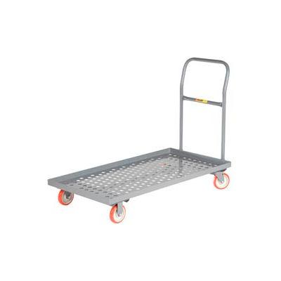 Little Giant® Platform Truck T-520-P-LU - Perforated Deck - 24 x 48 - Lip Edge - MORT Wheels