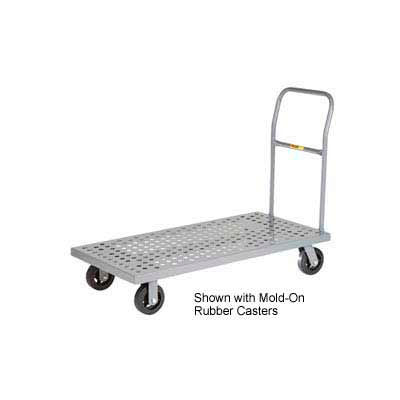 Little Giant® Platform Truck T-720-P-1H-UPS - Perforated Deck - 24 x 48 - Flush Edge - Poly