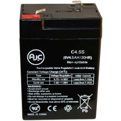 AJC® Hubbell 0120255 6V 4,5Ah batterie éclairage de secours