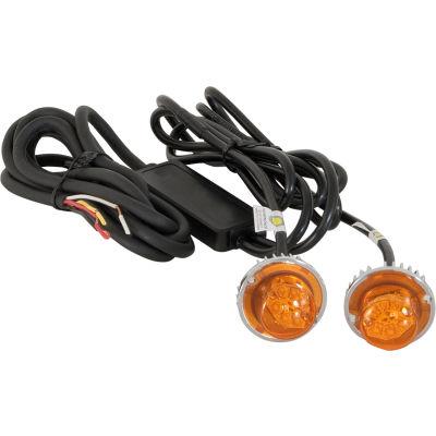 Stroboscopes LED cachée ambre w / 2 en ligne clignotants - 15' Cable - 8891216