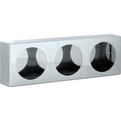 Triple Round Stainless Steel Light Cabinet - LB6183SST