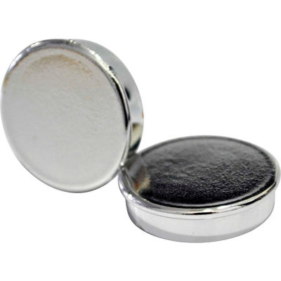 """MasterVision Super Silver Magnets, 1"""" Diameter, Pack of 10"""