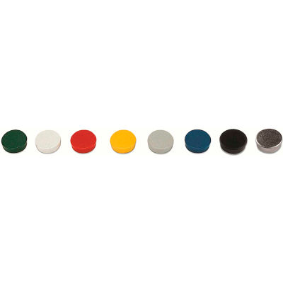 """MasterVision Super Magnets - 3/4"""" Diameter - Assorted Colors - Pack of 10"""