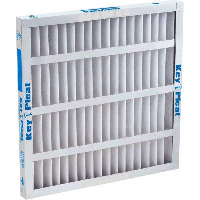 """Purolator® Key Pleat™ Pleated Air Filter, MERV 7, Self-Supported, 18""""Wx24""""Hx2""""D - Pkg Qty 12"""