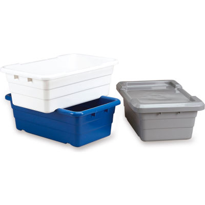 Quantum Lid For Economical Cross-Stack Totes - Fits Containers 44201, 44273 White - Pkg Qty 6