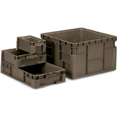 Quantum Straight-Wall Stacking Containers - 12X7.4X5""