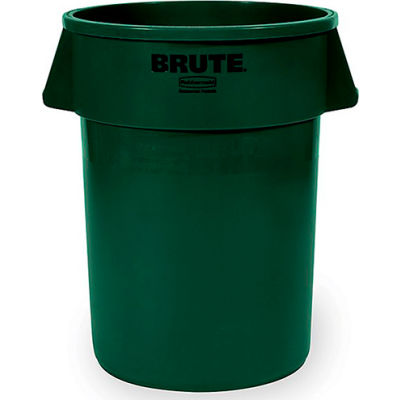 Rubbermaid Brute Round Container - 32 Gallon Capacity, Green