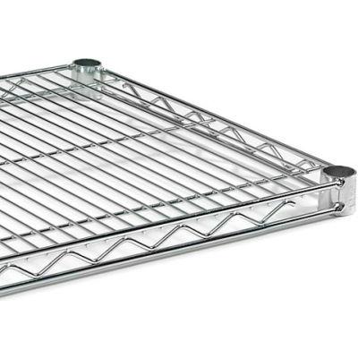 "Extra Shelf For Open Wire Shelving - 72X24"" - Chrome"