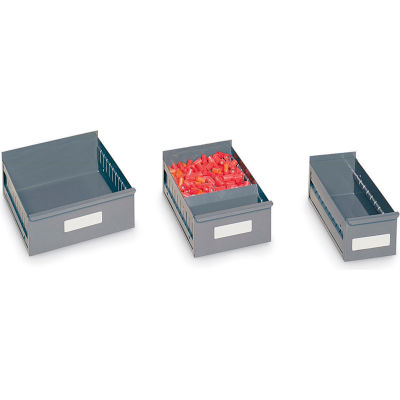 "Edsal Steel Shelf Drawers For High-Density Drawer Shelving - 5-9/16""Wx18""D - Pkg Qty 12"