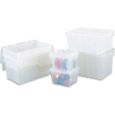 ORBIS Flipak® Attached Lid Container FP06 - 15-1/5 x 10-9/10 x 9-7/10, Clear