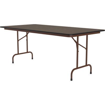 "Correll Melamine Folding Table, 36"" x 96"", Walnut"