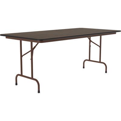 """Correll Laminate Folding Table, 36"""" X 96"""", Walnut"""