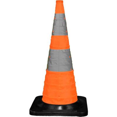 """Cortina 30"""" Pack N Pop trafic pliable cône, 4 voyants, Orange, noir à Base de caoutchouc, 501-03-04"""