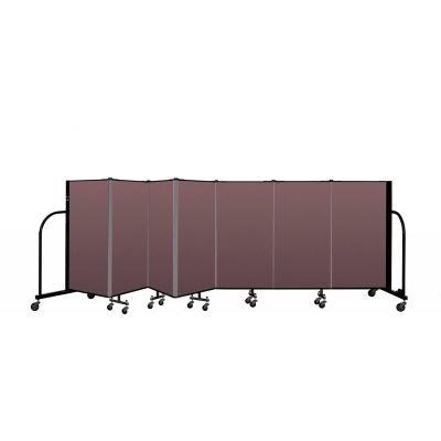 """Screenflex Portable Room Divider 7 Panel, 4'H x 13'1""""L, Fabric Color: Mauve"""