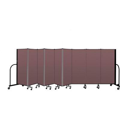 """Screenflex Portable Room Divider 9 Panel, 5'H x 16'9""""L, Fabric Color: Mauve"""