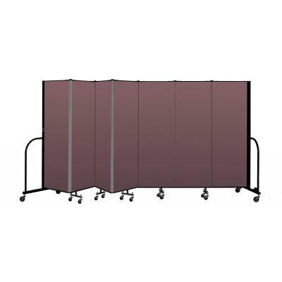 """Screenflex Portable Room Divider 7 Panel, 6'H x 13'1""""L, Fabric Color: Mauve"""