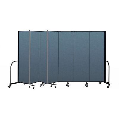 "Screenflex Portable Room Divider 7 Panel, 6'8""H x 13'1""L, Fabric Color: Blue"